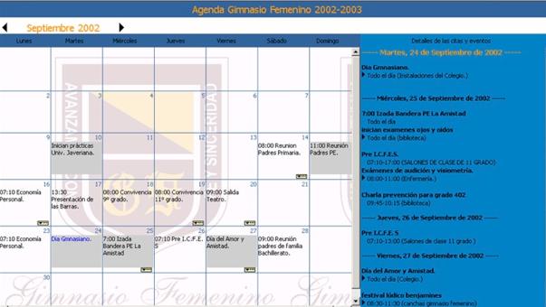 Página web agenda