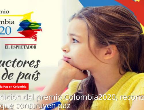 """Recibimos el galardón """"Colombia 2020, Constructores de país"""""""